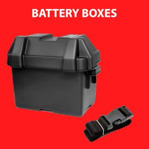 Plastic battery boxes