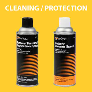 Battery terminal cleaners and preventatives