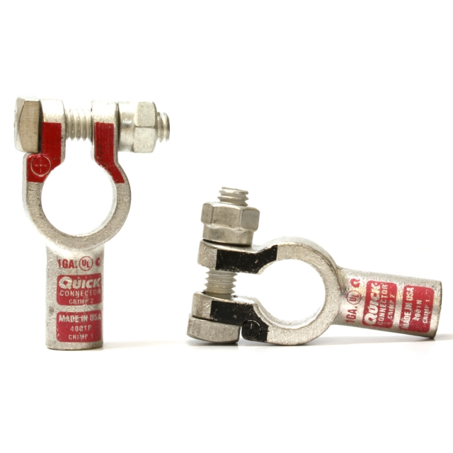 1 Gauge Straight Terminal Clamp Connector
