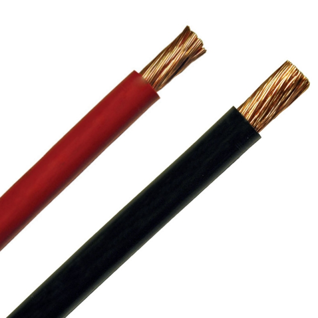 10 Gauge Battery Cable available in red or black for use in power, ground, starter and alternator connections.