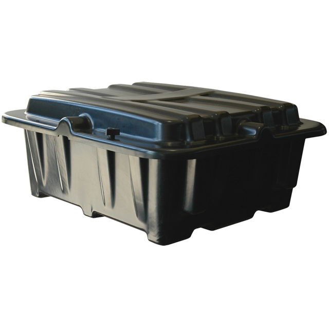 Dual Group Size 8D Plasict Battery Box, Side-by-Side