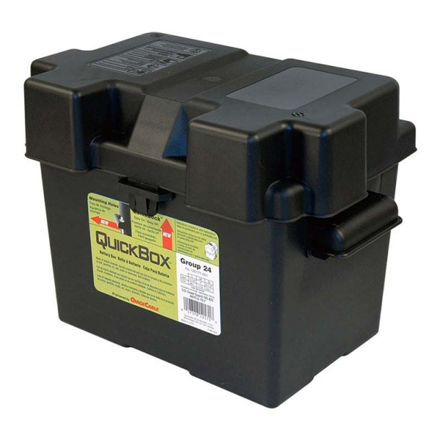 Plastic Battery Box for Group Size 24 Batteries 120171, Made in USA.