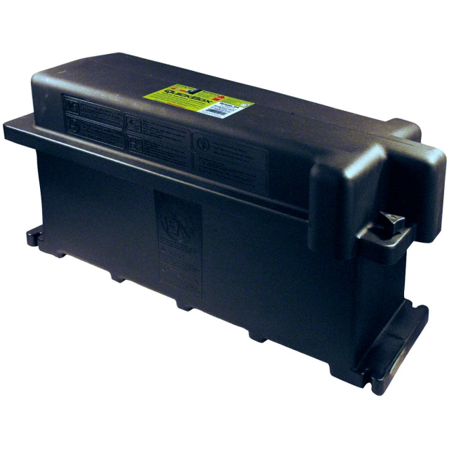 Group 4D battery box - heavy duty plastic with thumb screw lid