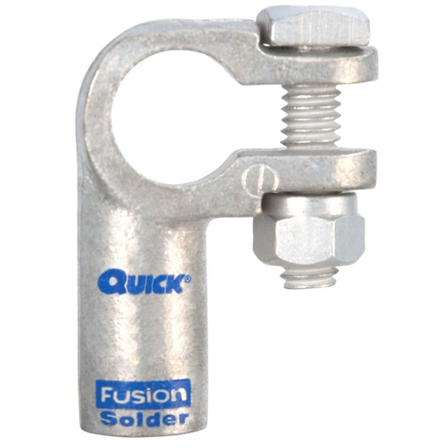4/0 Gauge Fusion Solder Right Elbow Terminal Clamp
