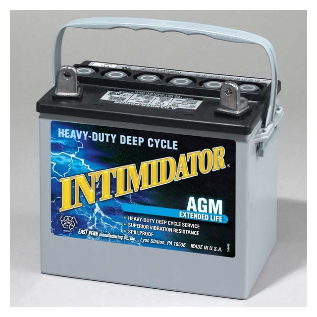Intimidator 8AU1H Group Size U1 AGM Deep Cycle Battery
