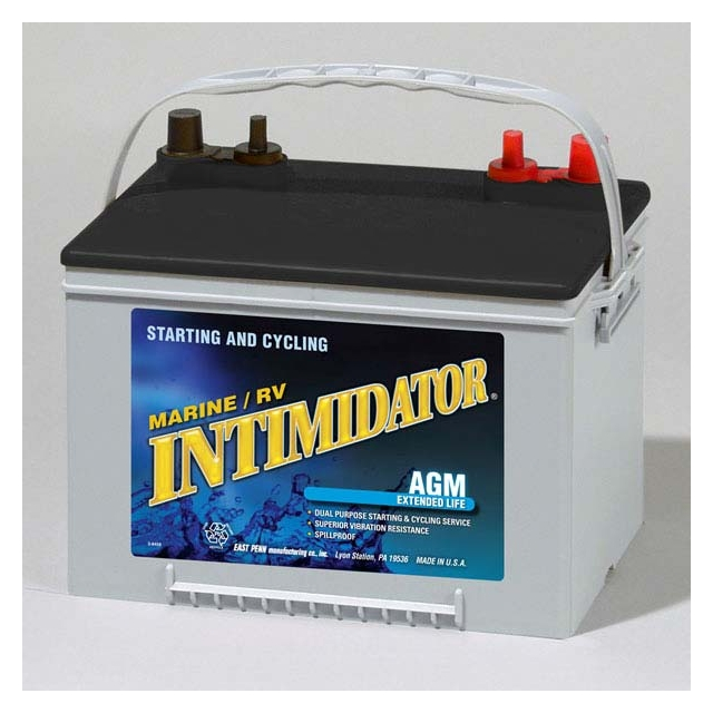 Intimidator 9A34M Group 34 AGM Marine Battery