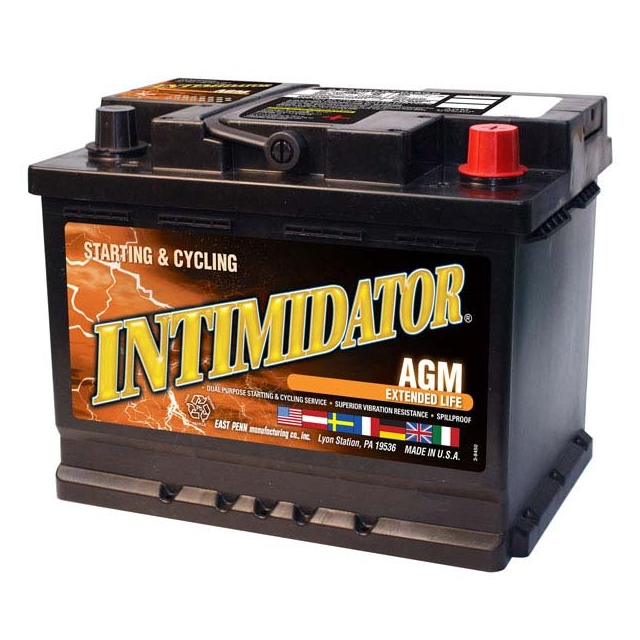 Intimidator 9A47 Group Size 47 AGM Starting and Deep Cycle Battery