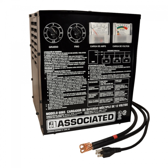Associated Equipment Multi-Battery Parallel Charger, Model 6065S