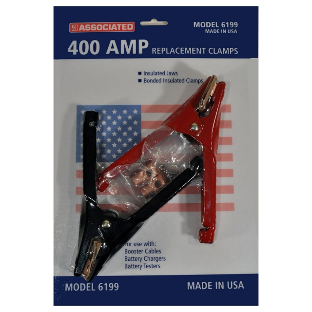 Associated model 6199 replacement jumper cable clamps, 400 amp