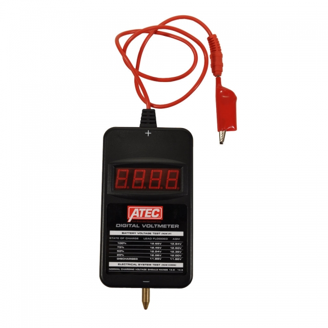 ATEC by Associated Equipment digital volt meter for 6 and 12 volt battereis