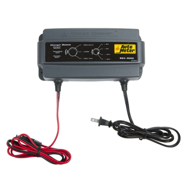 AutoMeter BEX-5000 Battery Charger, Multi-voltage 5 Amp
