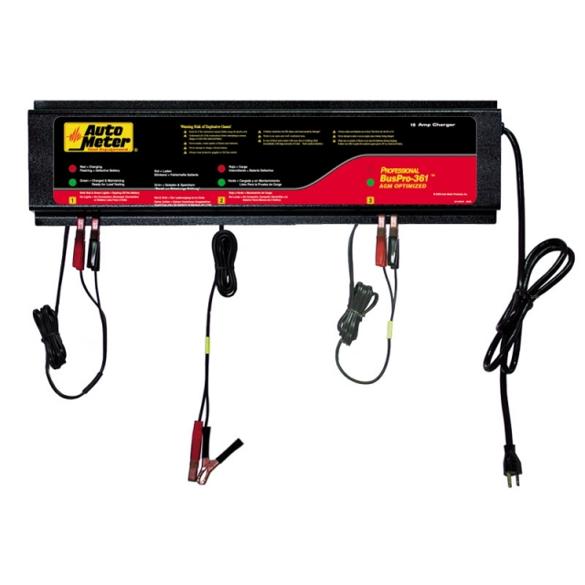 AutoMeter BUSPRO-361 3-Bank Battery Charger