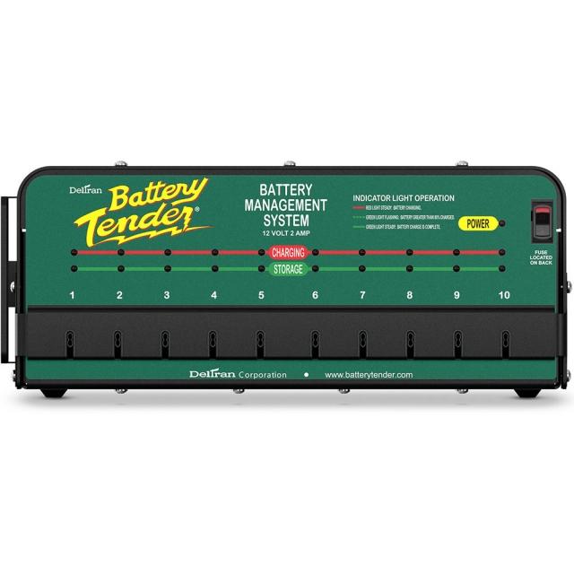 Battery Tender 021-0134 Shop Charger. 10-Bank - 12 Volt 2 Amp Output.
