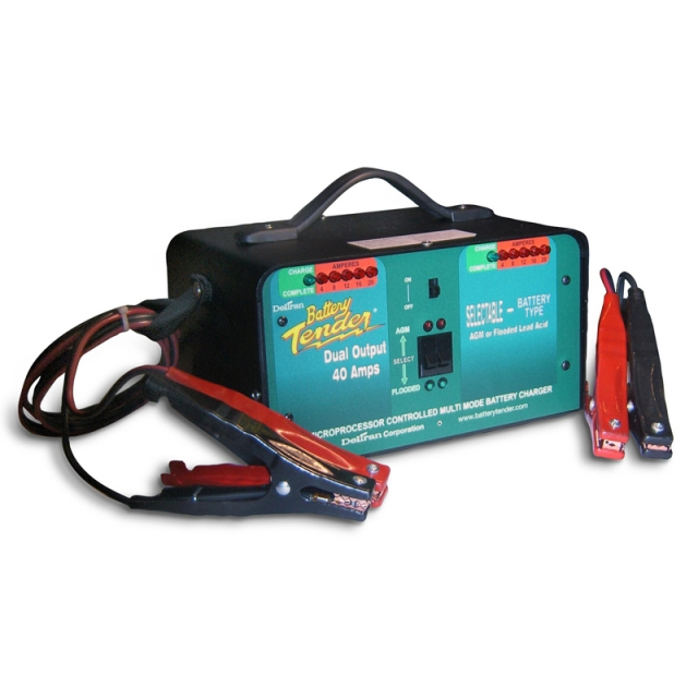 Battery Tender Heavy Duty Dual Output DVD-40 Battery Charger (021-1158-1)