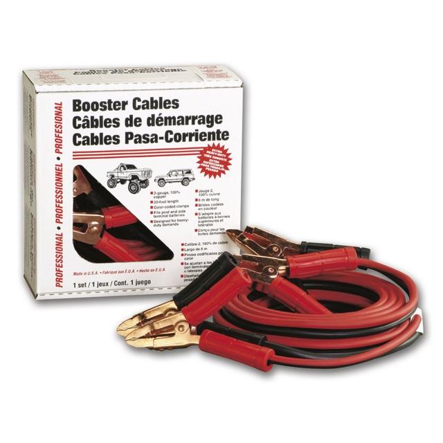 Deka Heavy Duty Booster Cables, 2 Gauge 20'