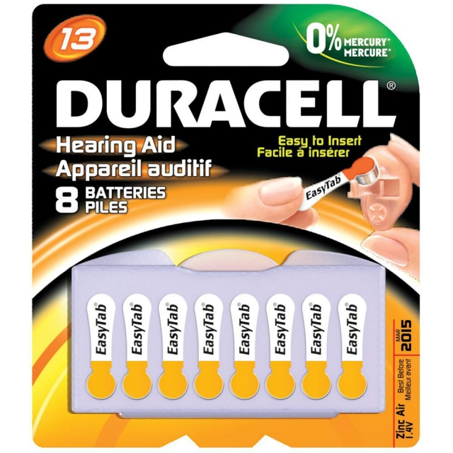 Duracell DA13B8 Size 13 Zinc Air Hearing Aid Batteries