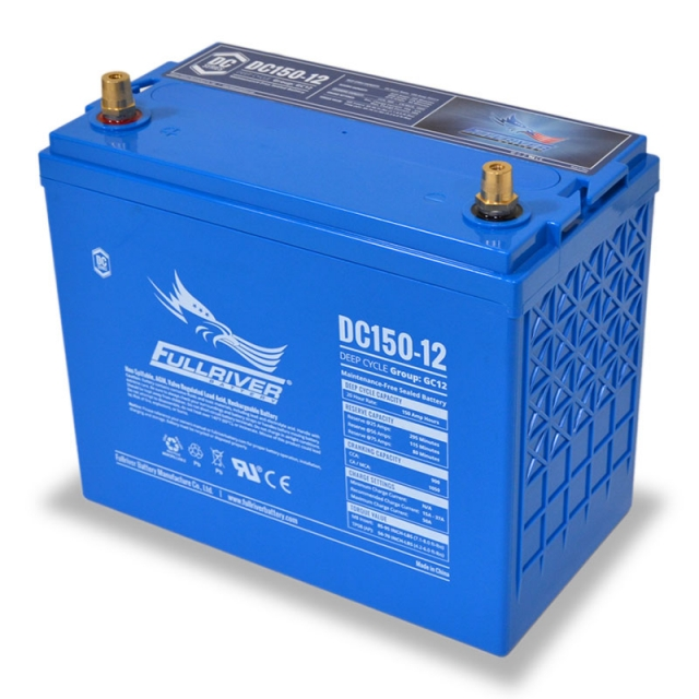 Fullriver DC150-12 Deep Cycle Battery Left