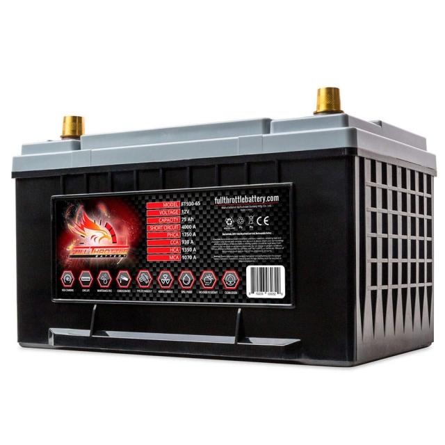 Fullriver Full Throttle FT930 AGM Battery, Group Size 65