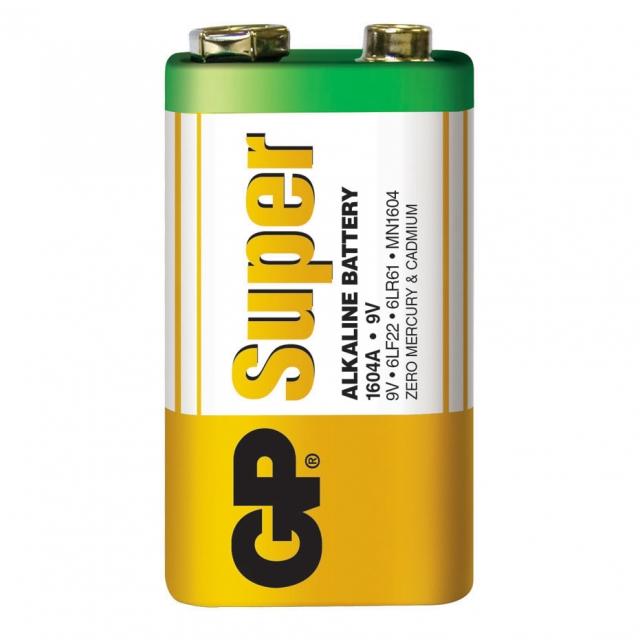 GP 9V Alkaline Batteries - Bulk 10 Pack