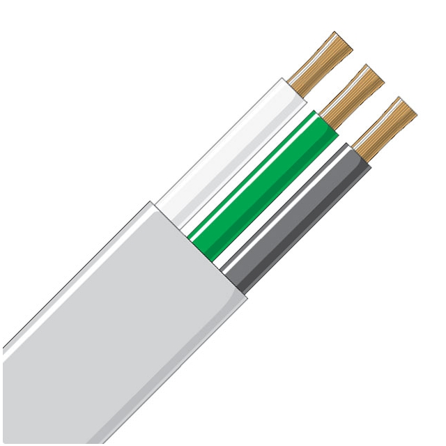Jacketed Wire - 3 Conductor 14 Gauge White & Black
