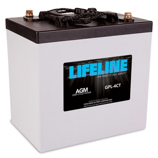 Lifeline GPL-4CT AGM Deep Cycle Battery, NSN 1680-01-584-0411