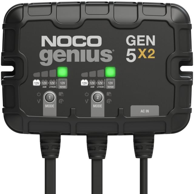NOCO Genius GEN5X2 2-Bank On-Board Battery Charger