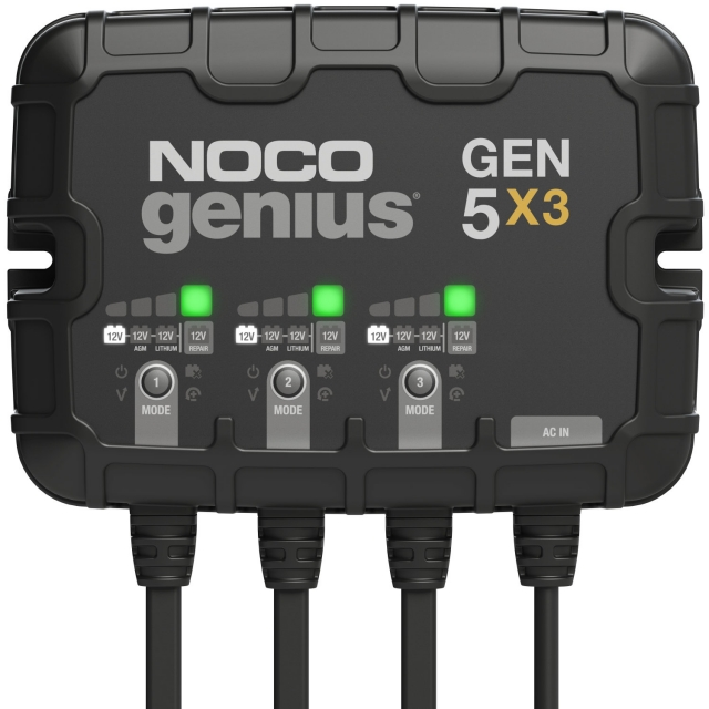 NOCO Genius GEN5X3 3-Bank On-Board Battery Charger