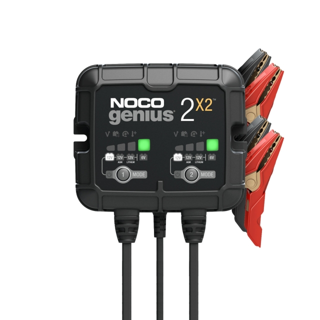 NOCO Genius GENIUS5 Battery Charger for 6 and 12 Volt Batteries.