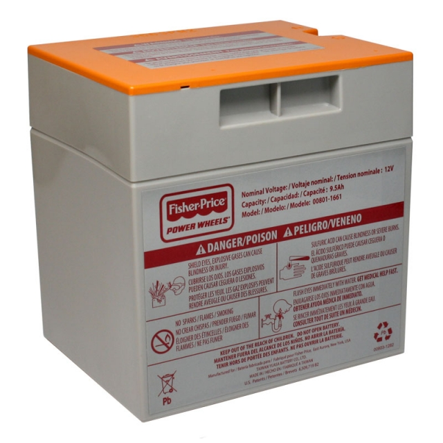 Power Wheels Battery - 12 Volt Orange Case