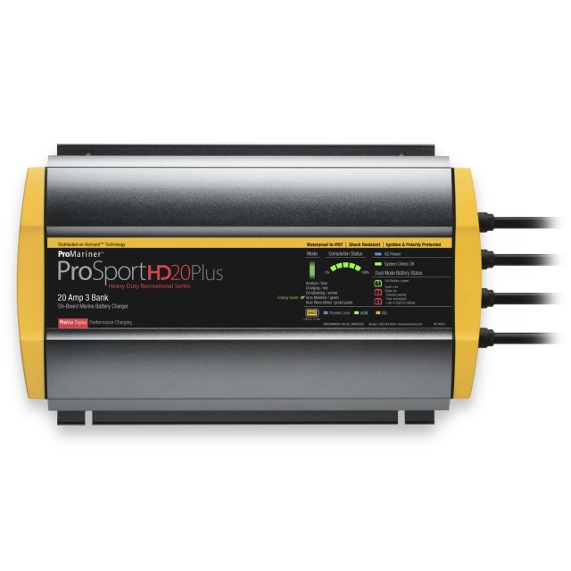 ProMariner ProSport HD 20 Plus Three Bank Battery Charger
