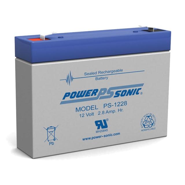 PS-1228 - 12 Volt 2.8 Ah Sealed Lead Acid Battery
