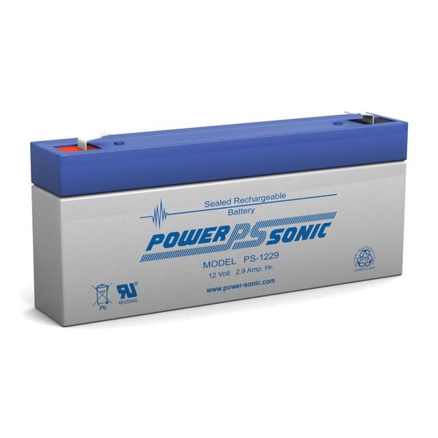PS-1229 - 12 Volt 2.9 Ah Sealed Lead Acid Battery