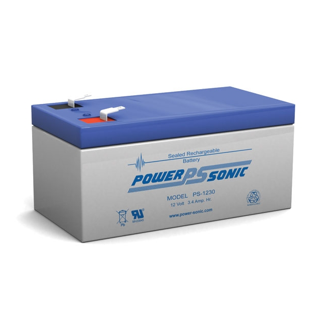 PS-1230 - 12 Volt 3.4 Ah Sealed Lead Acid Battery