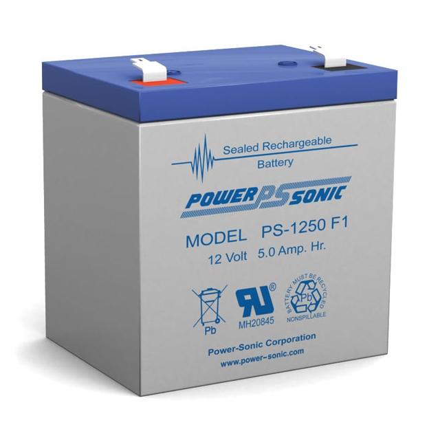 PS-1250 - 12 Volt 5 Ah Sealed Lead Acid Battery