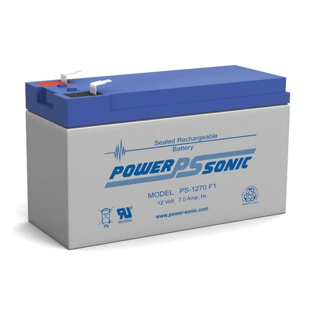 PS-1270 - 12 Volt 7 Ah Sealed Lead Acid Battery
