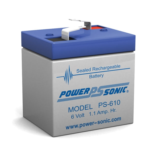 PS-610 - 6 Volt 1.1 Ah Sealed Lead Acid Battery