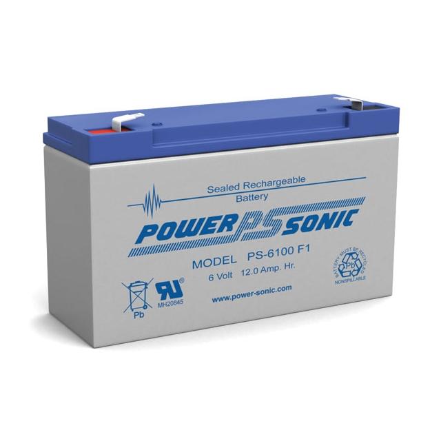 PS-6100 - 6 Volt 12 Ah Sealed Lead Acid Battery