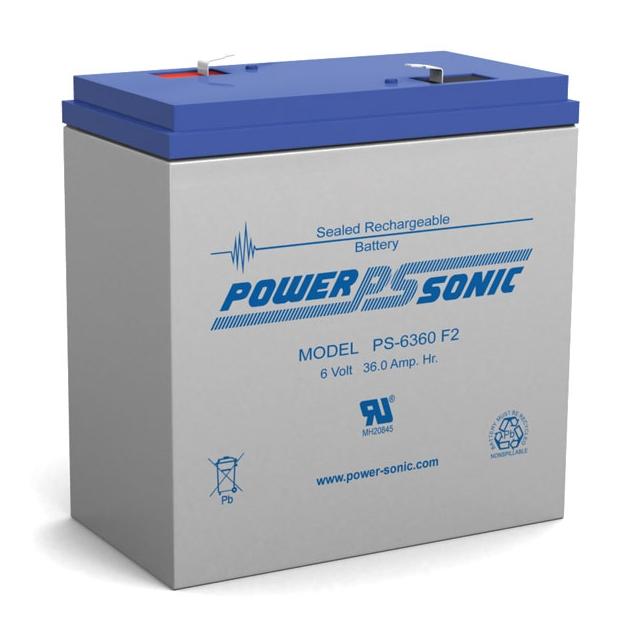 PS-6360 - 6 Volt 36 Ah Sealed Lead Acid Battery