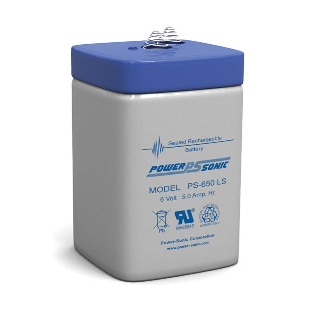 PS-650L - 6 Volt 5 Ah Sealed Lead Acid Battery