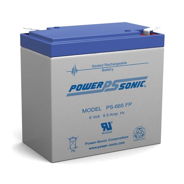 PS-665 - 6 Volt 6.5 Ah Sealed Lead Acid Battery