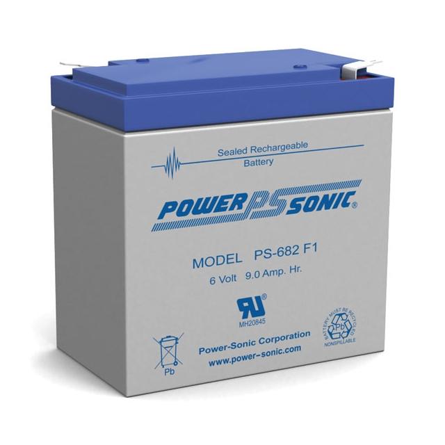 PS-682 - 6 Volt 9 Ah Sealed Lead Acid Battery