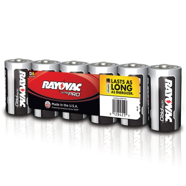 Rayovac Ultra Pro D Alkaline Batteries 6 Pack