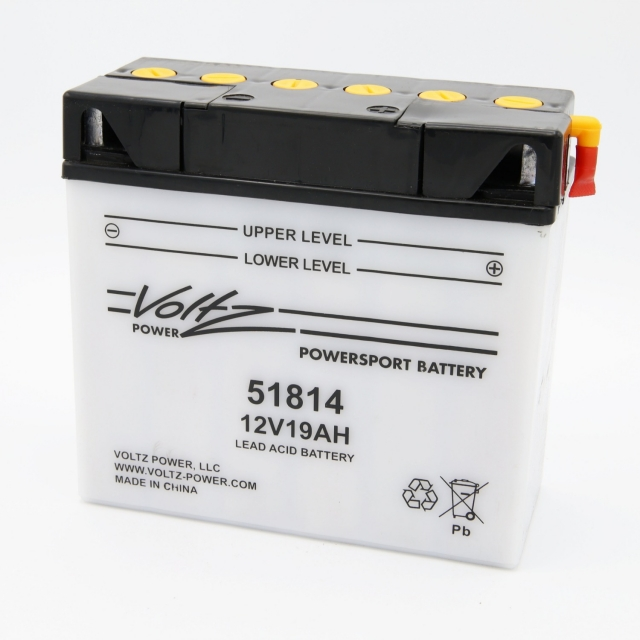 51814 Power Sports Battery, with Acid