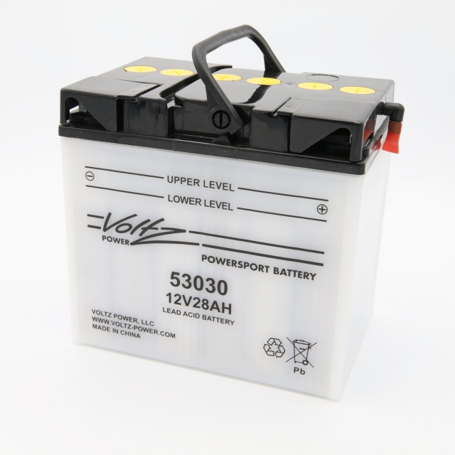 53030 Power Sports Battery, with Acid