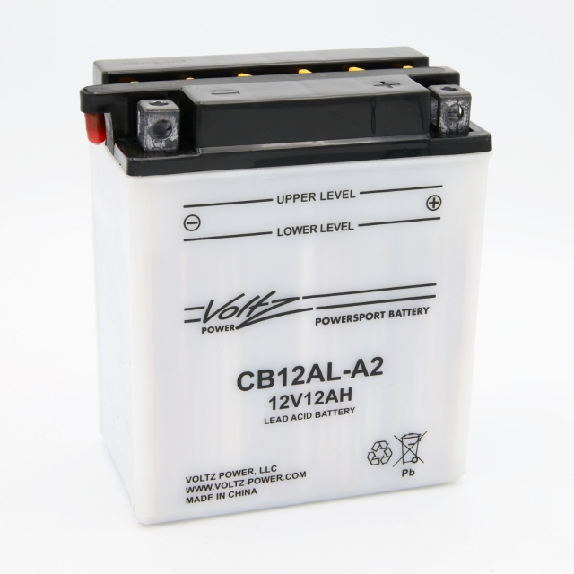 CB12AL-A2 Power Sports Battery, with Acid