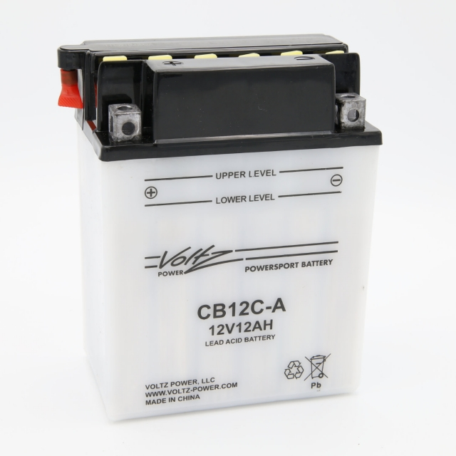 CB12C-A Power Sports Battery, with Acid