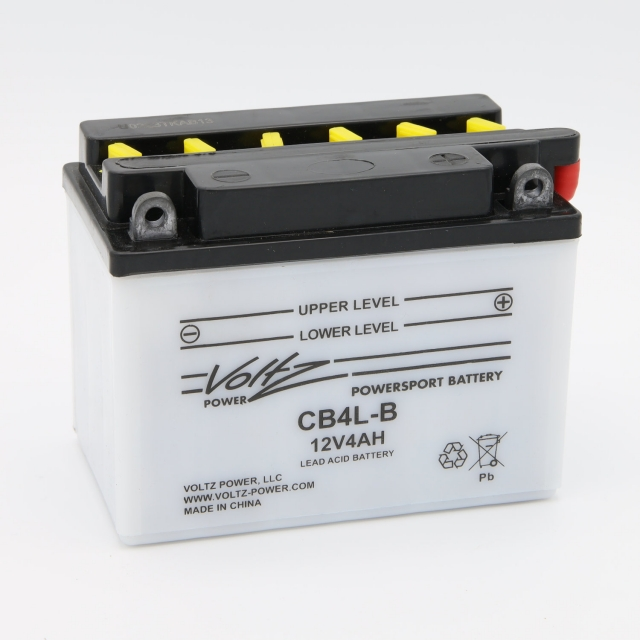CB4L-B Power Sports Battery, with Acid