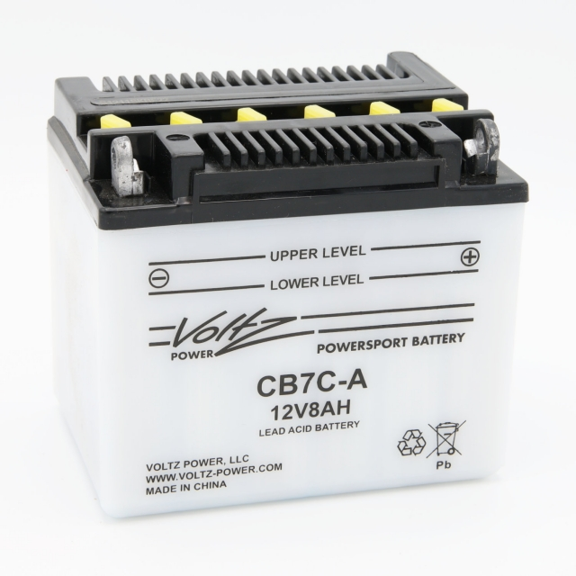 CB7C-A Power Sports Battery, with Acid