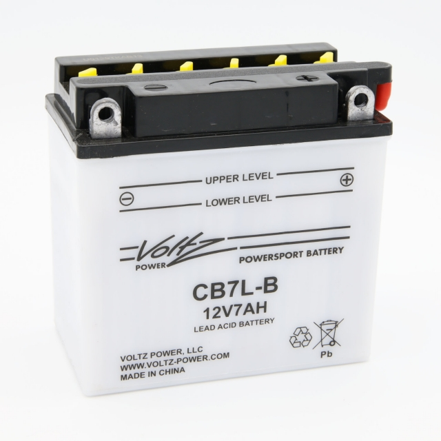 CB7L-B Power Sports Battery, with Acid