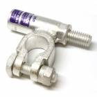 3/0 Gauge Right Add-On-Terminal Clamp Connector Barrel View